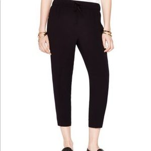 Kate Spade Black Hutton Drawstring Viscose Pants 0